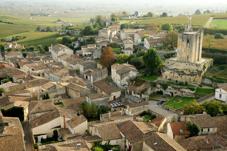 View of Saint-Émilion from Église Monolithe