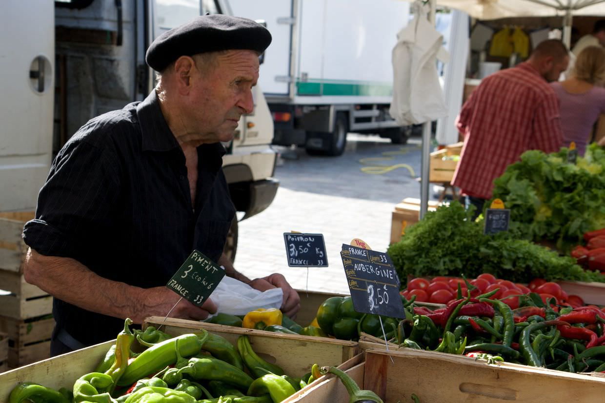 French market vendor