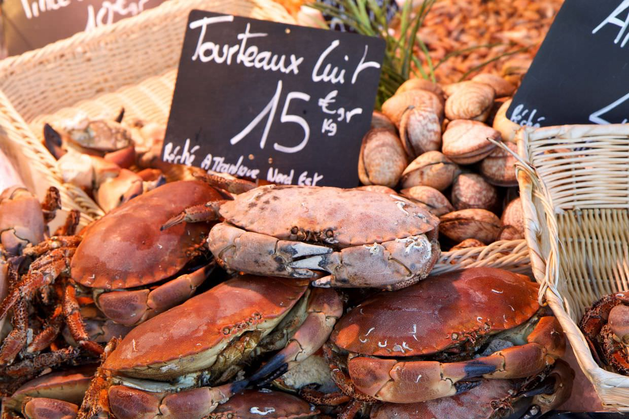 Crabs for sale at the market