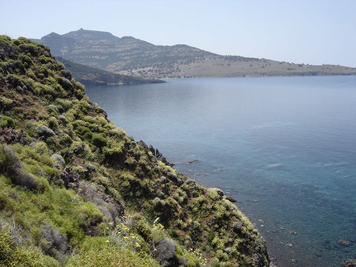 Lesvos coastal view