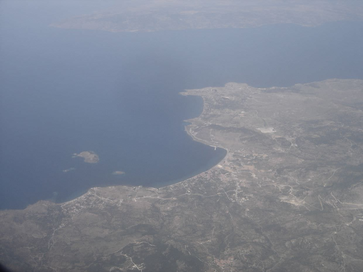 Flying over Molyvos
