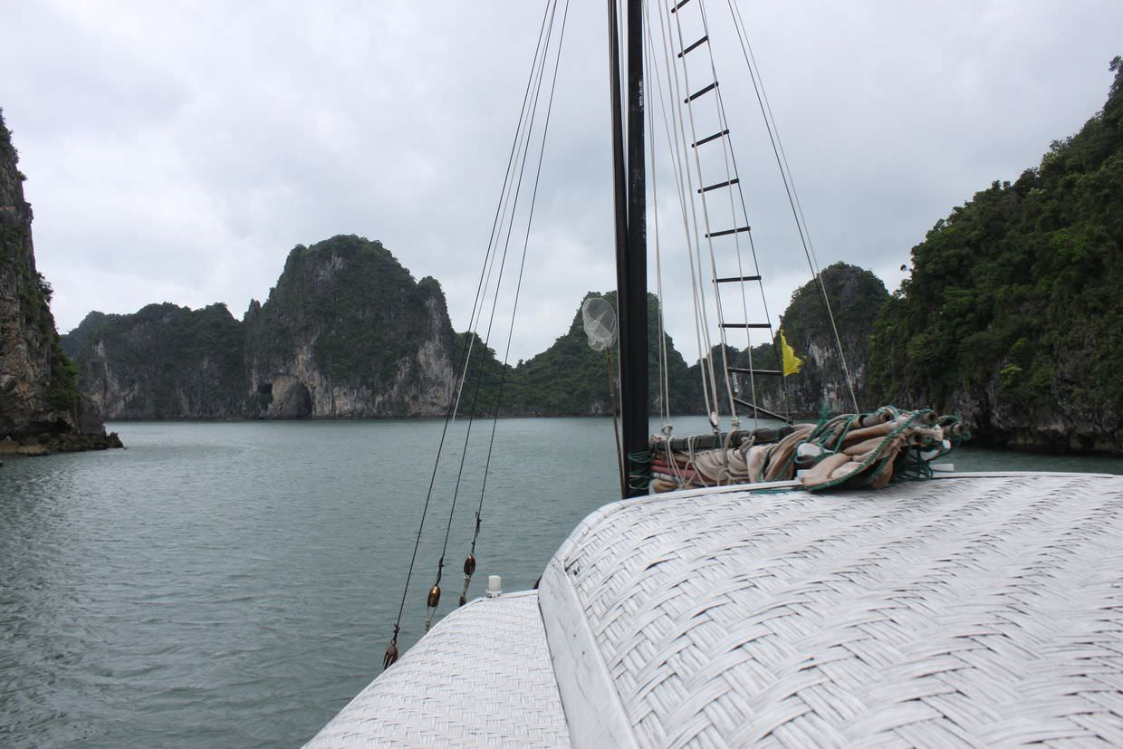 Sailing through Halong Bay on the Prince III