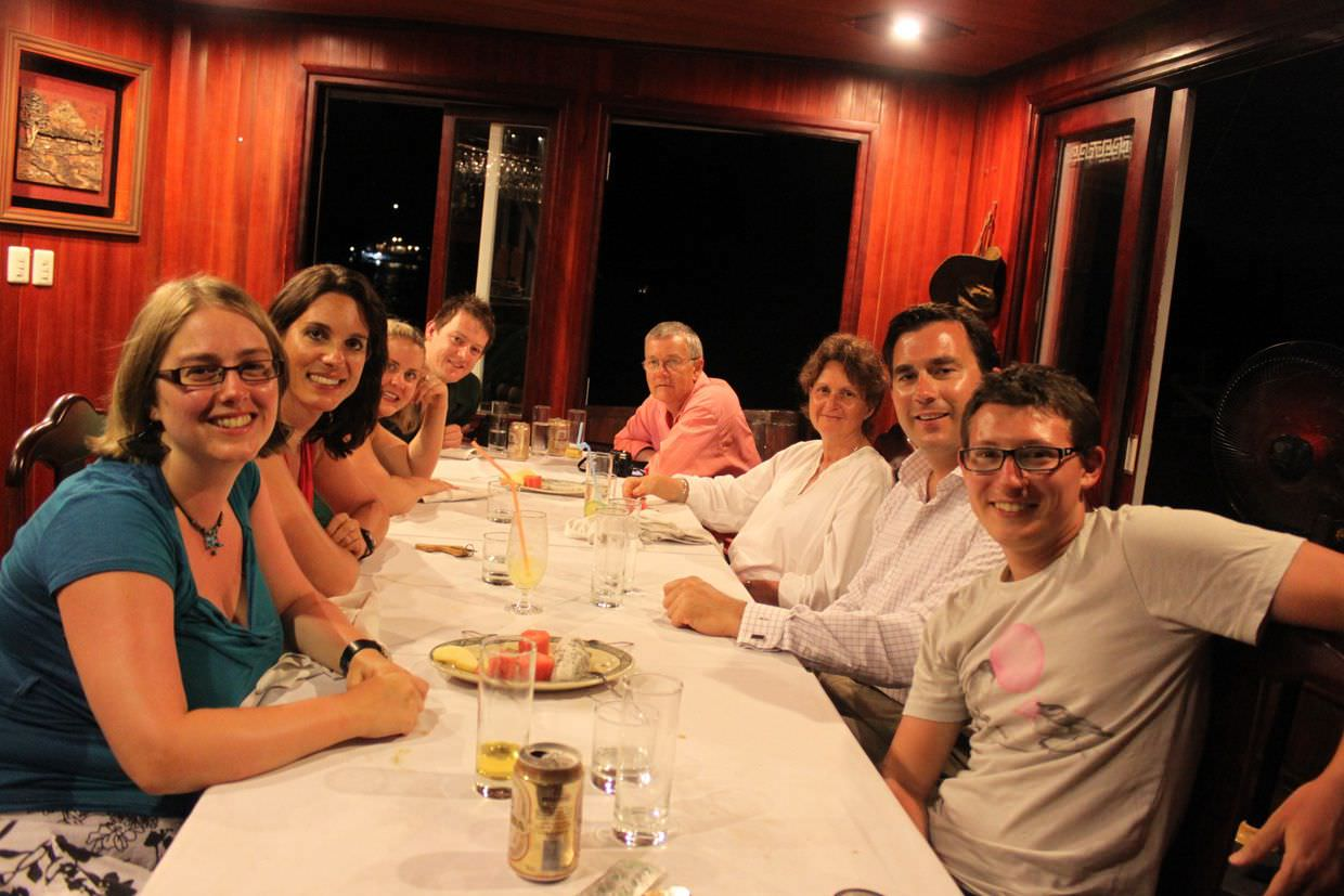 The last night with our new friends, passengers of the Prince III