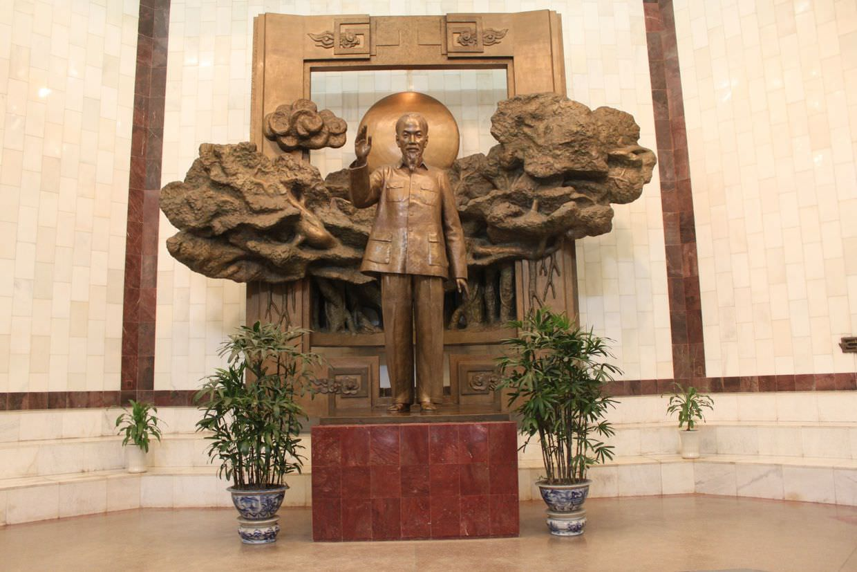 Bronze statue of Ho Chi Minh