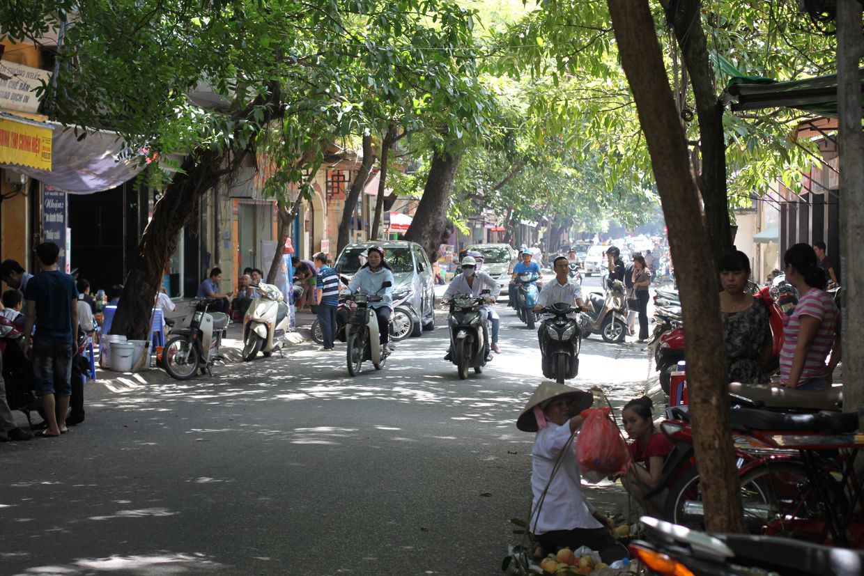 A typical old Hanoi street