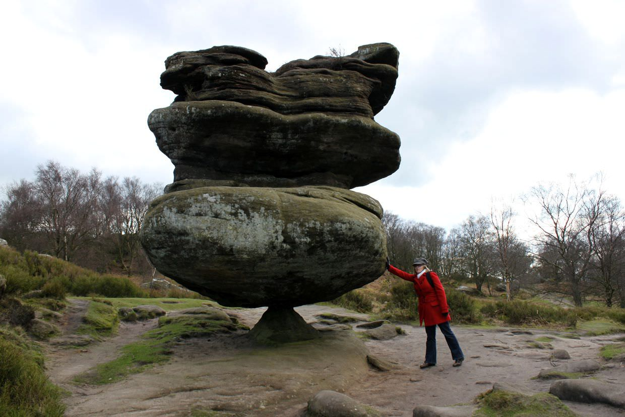 The amazing balancing rock formation