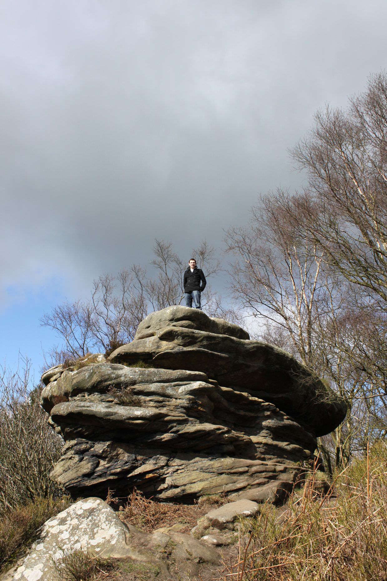 Paul at Brimham Rocks