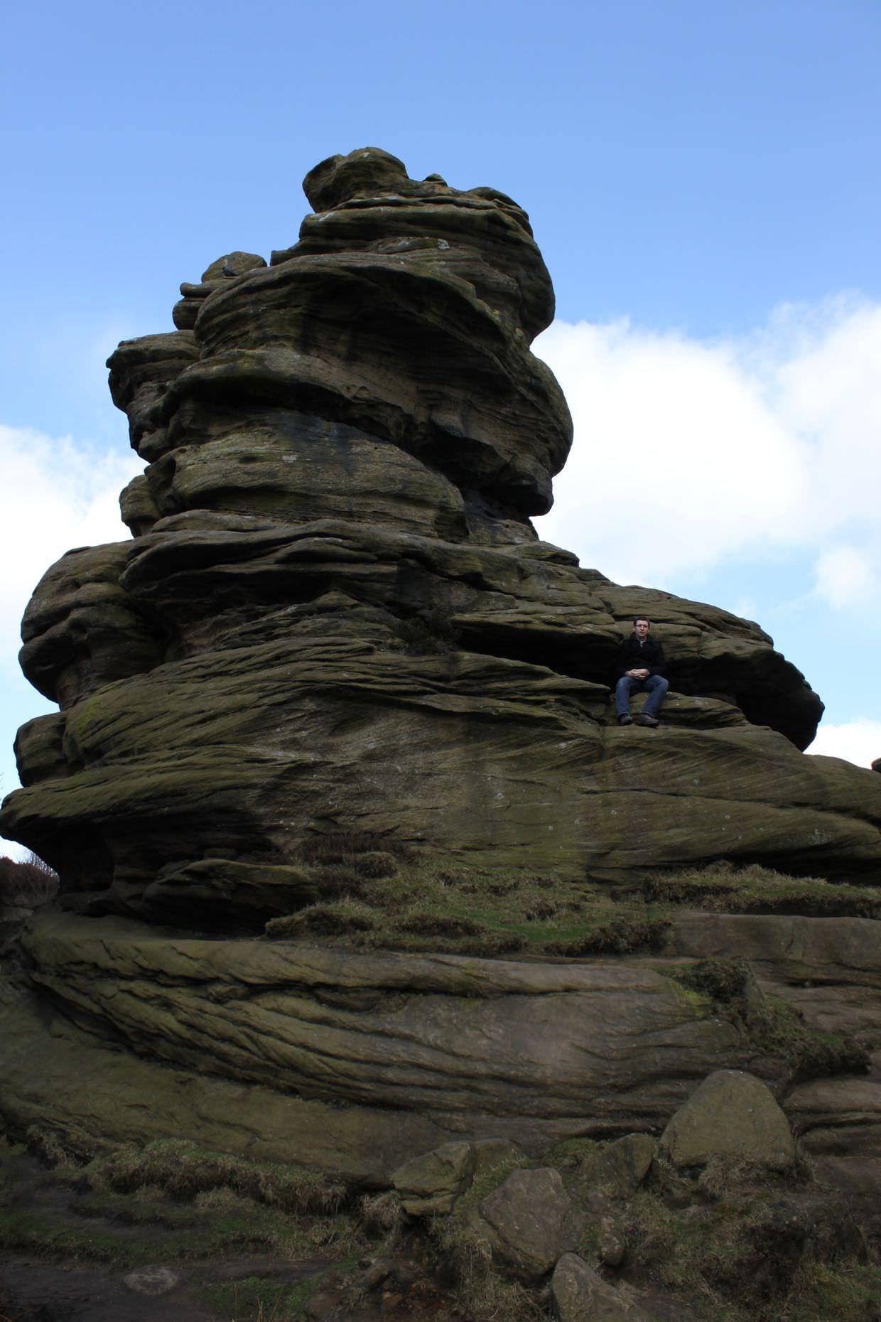Novice bouldering