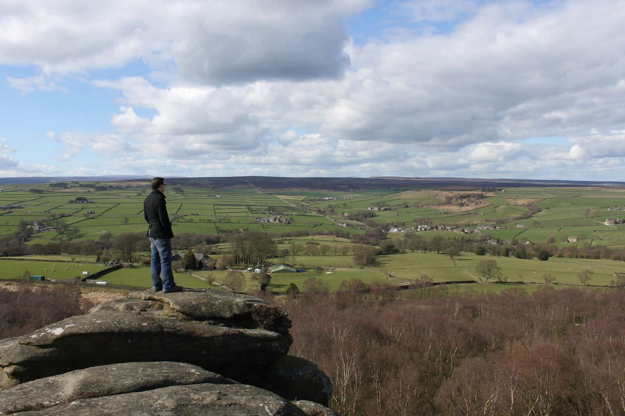 Paul looking out at the Yorkshire Dales