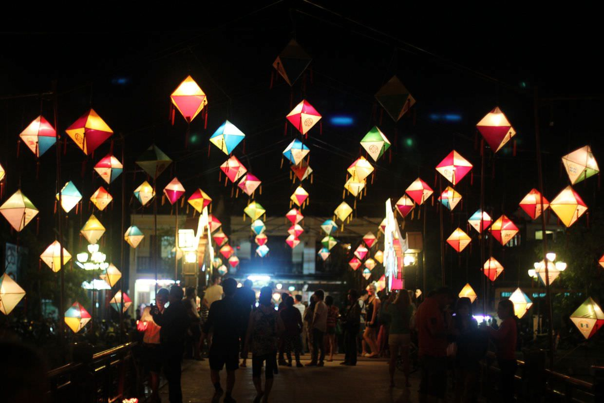 Lanterns on the bridge