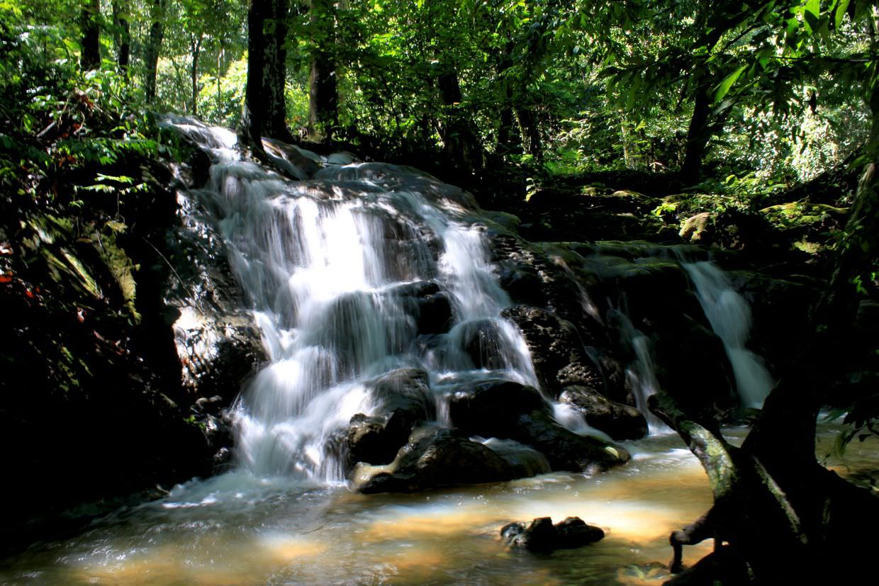Waterfall in Sa Nang Manora forest