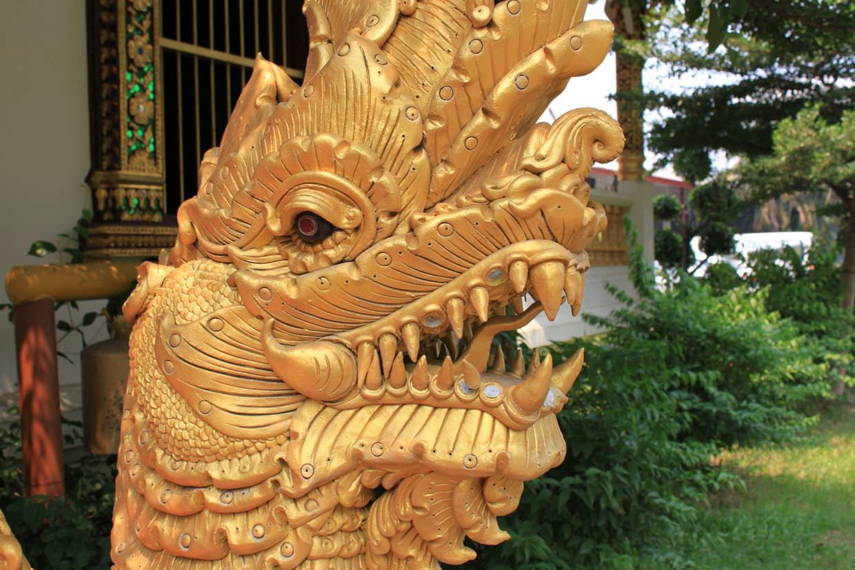 Golden dragon at Wat Phra Singh