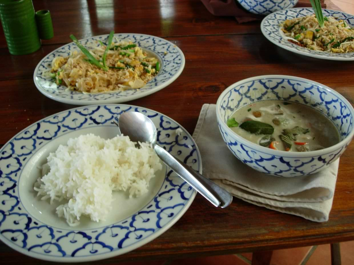 Paul's thai green curry and pad thai