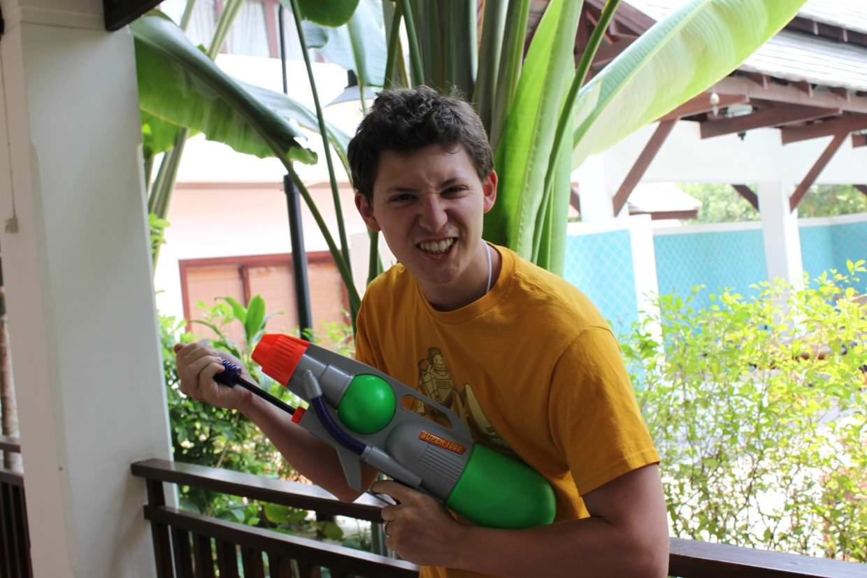 Paul, ready for Songkran day two