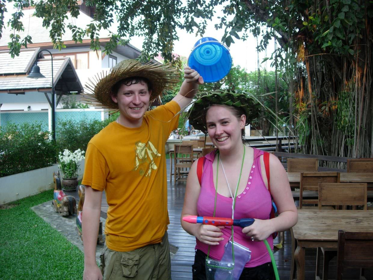 Sam and Paul with Songkran armory