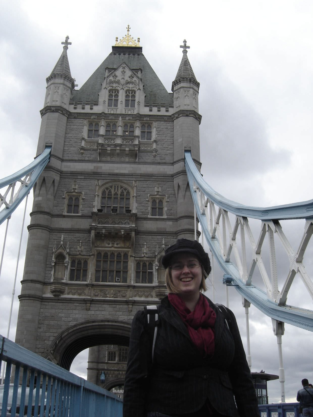 Samantha on London's tower bridge