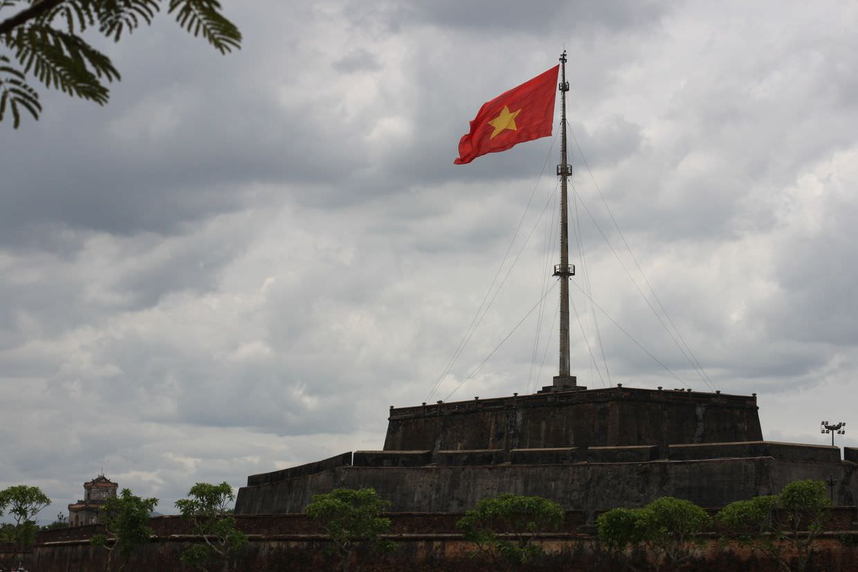 Hue's enormous flag pole