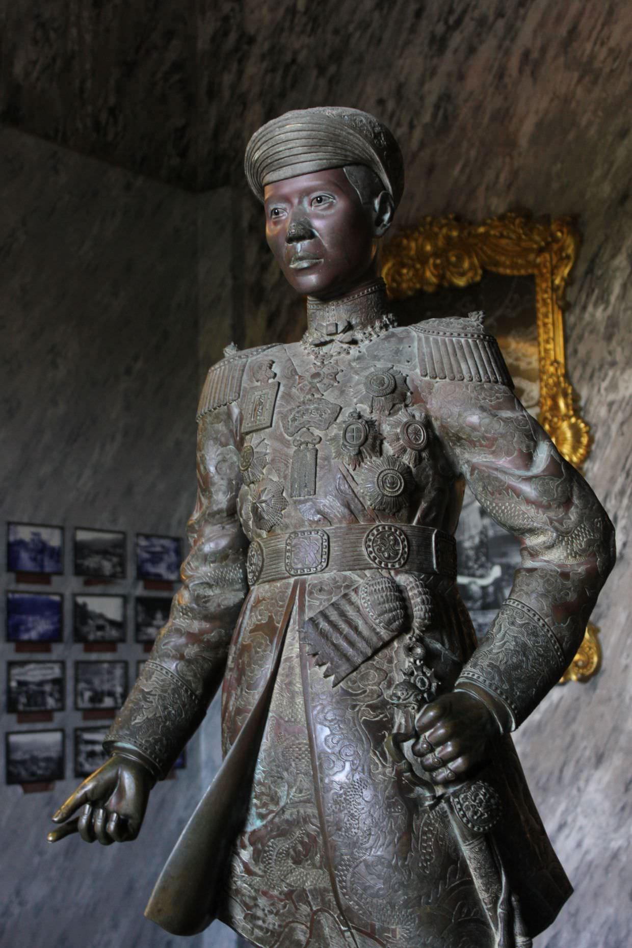 Emperor Khai Dinh's bronze statue
