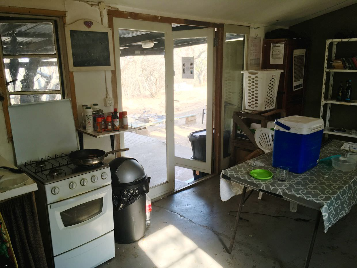 Kitchen at camp