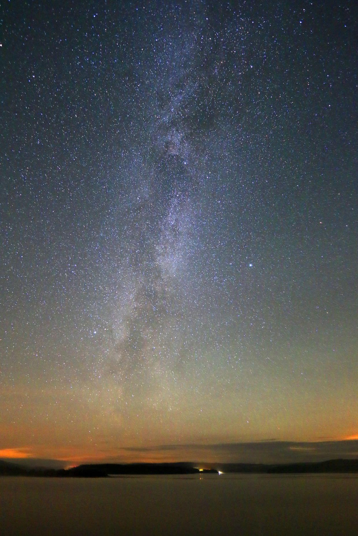 Milky Way over Kielder Water