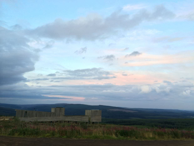 Kielder Observatory in the evening