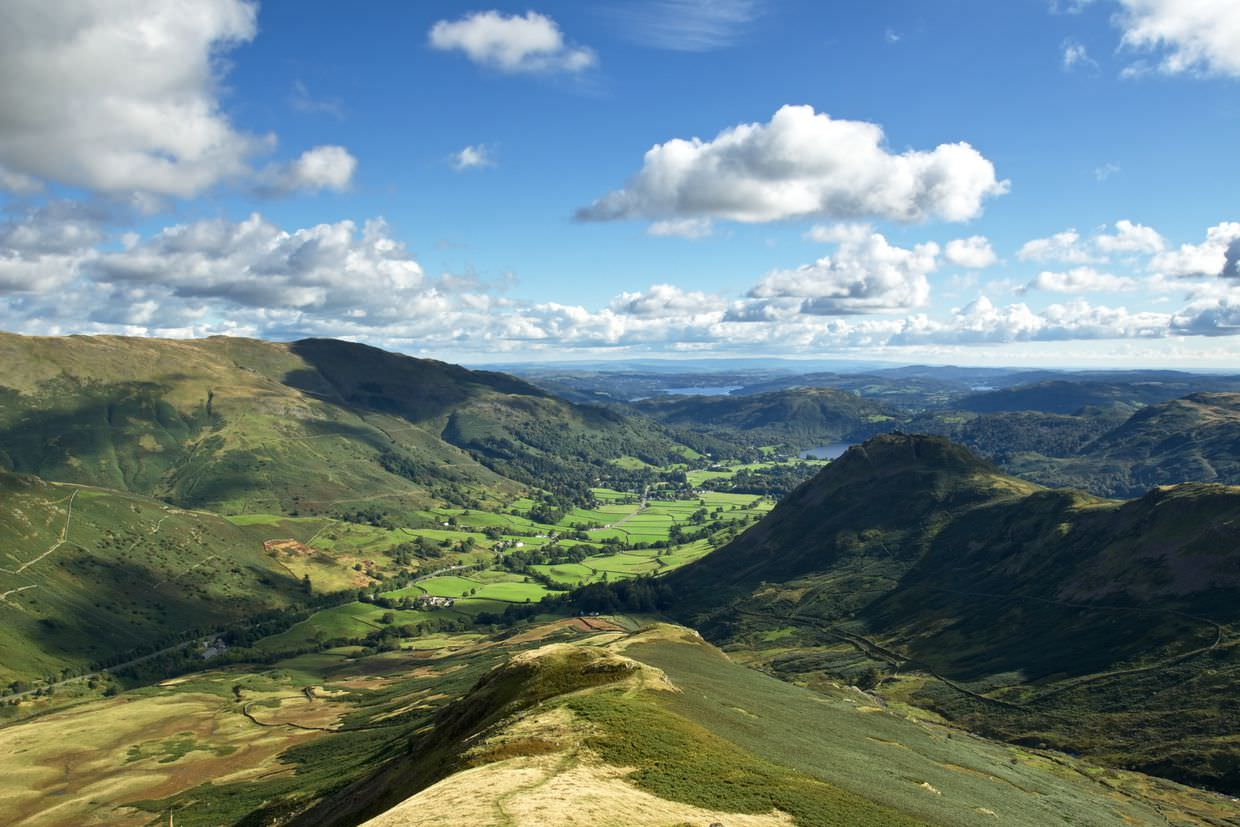 Looking South to Greenburn and Grasmere
