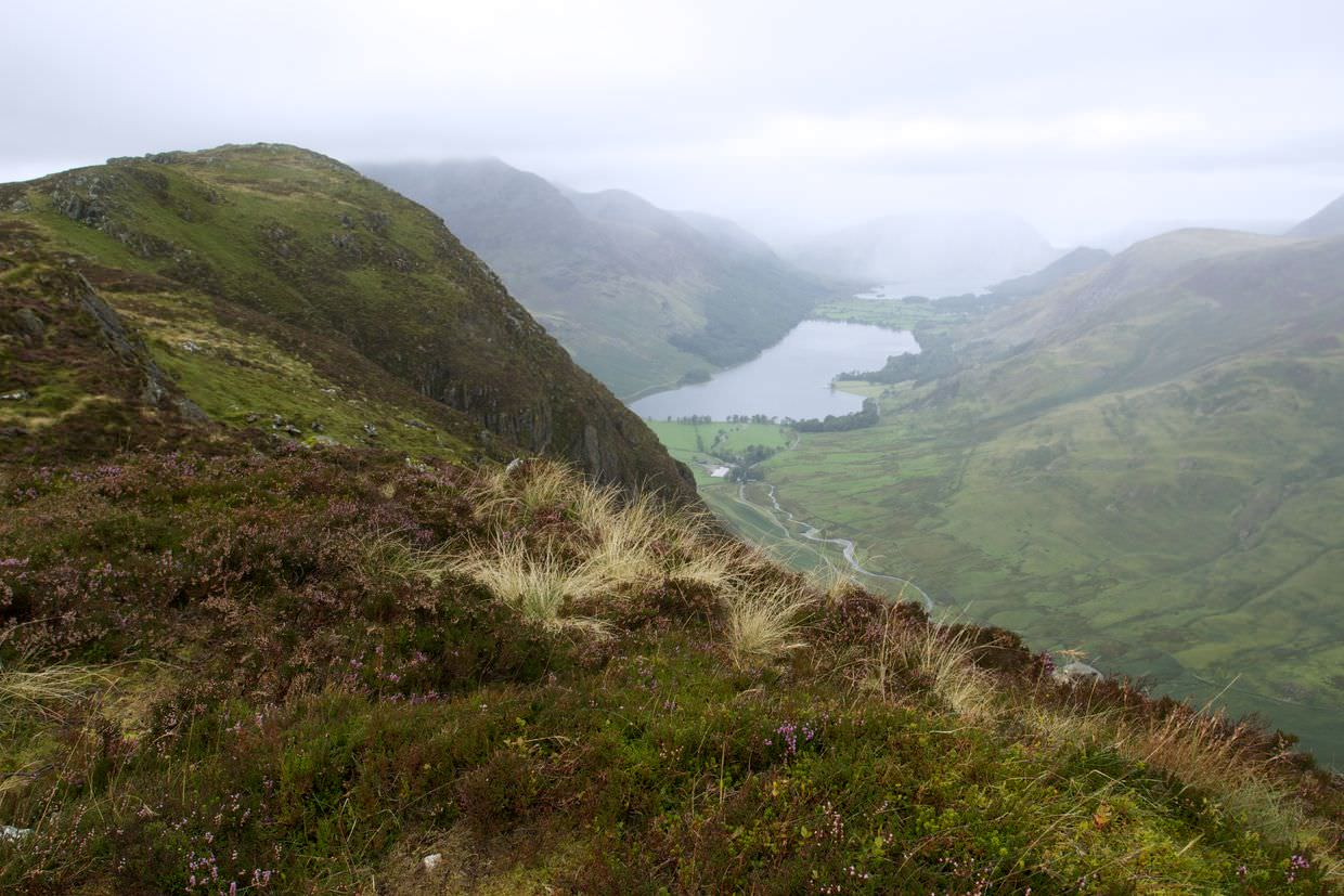 View from the top of Honister Crag