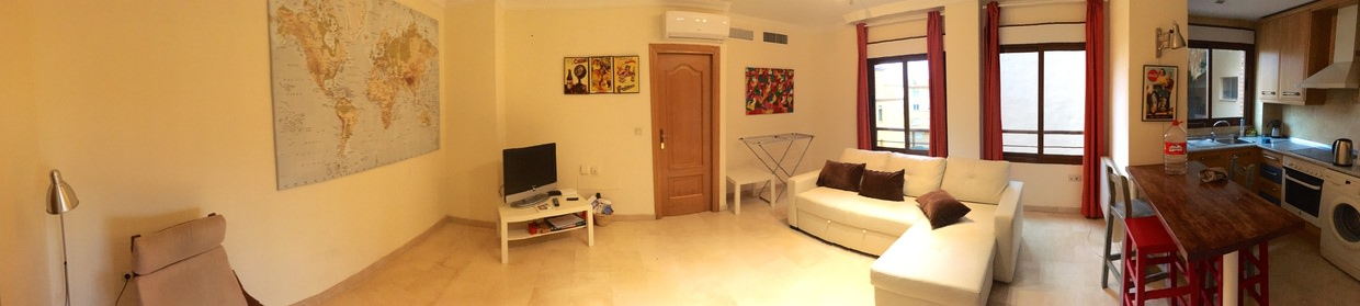 Our Airbnb apartment in Malaga