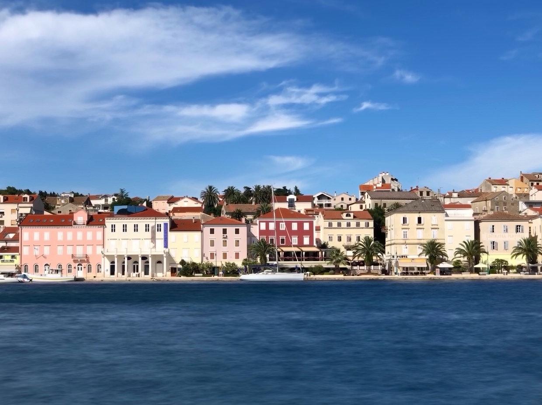 Mali Lošinj from across the harbour