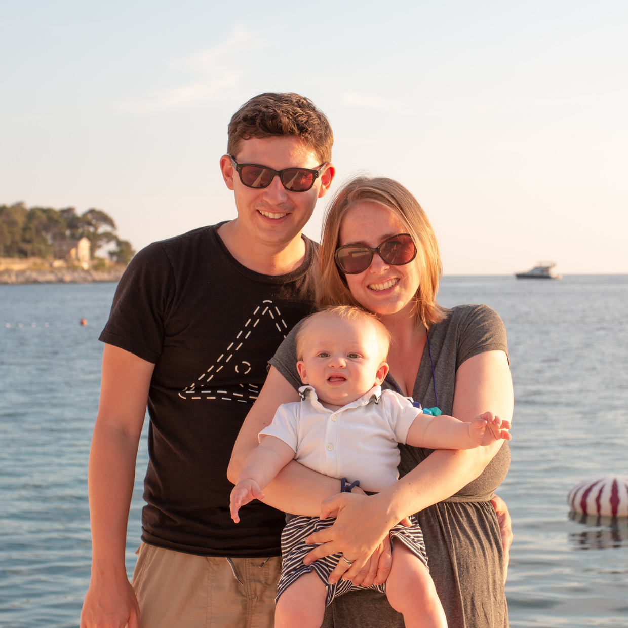 The family by the sea in Mali Lošinj