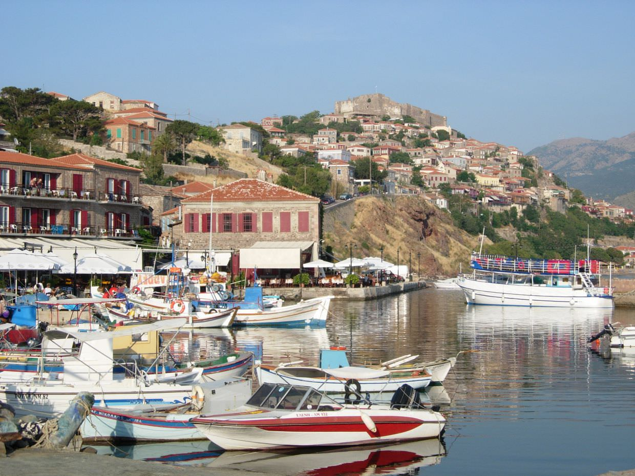 Molyvos harbour on the island of Lesvos