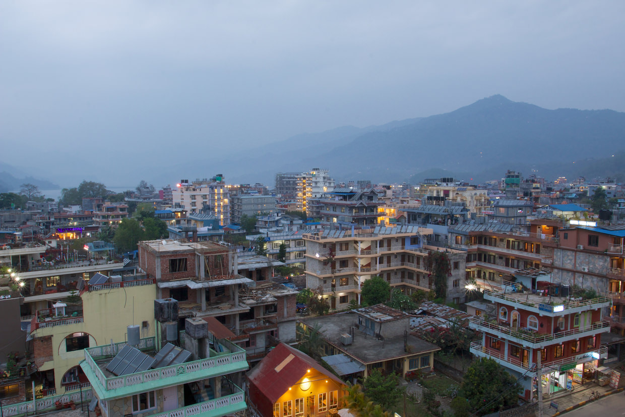 Pokhara at night