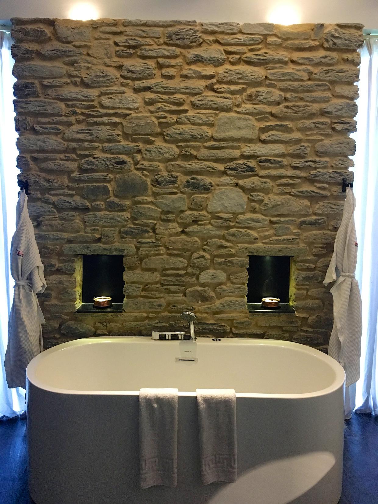 The bath in our villa