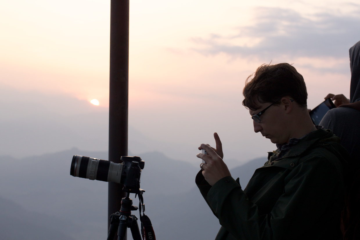 Paul photographing the mountains