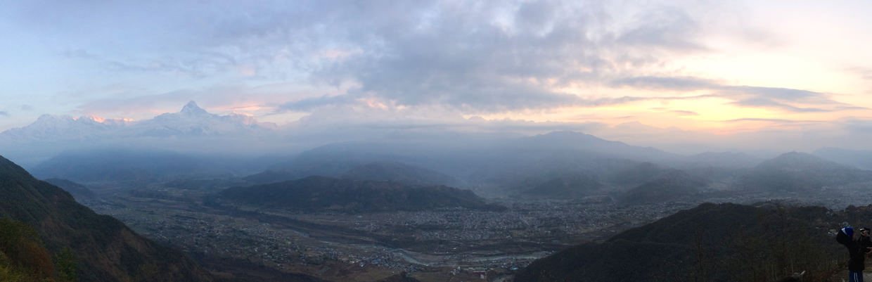 Panorama from Sarangkot at sunrise
