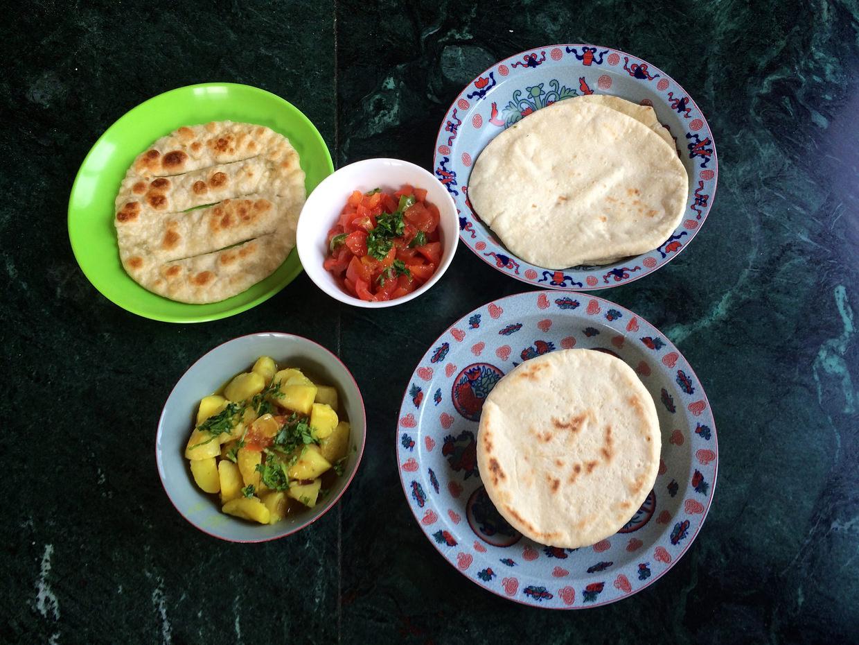Clockwise: Hyoshang Bhaklep, Bhaklep and Amdo Bhaklep breads