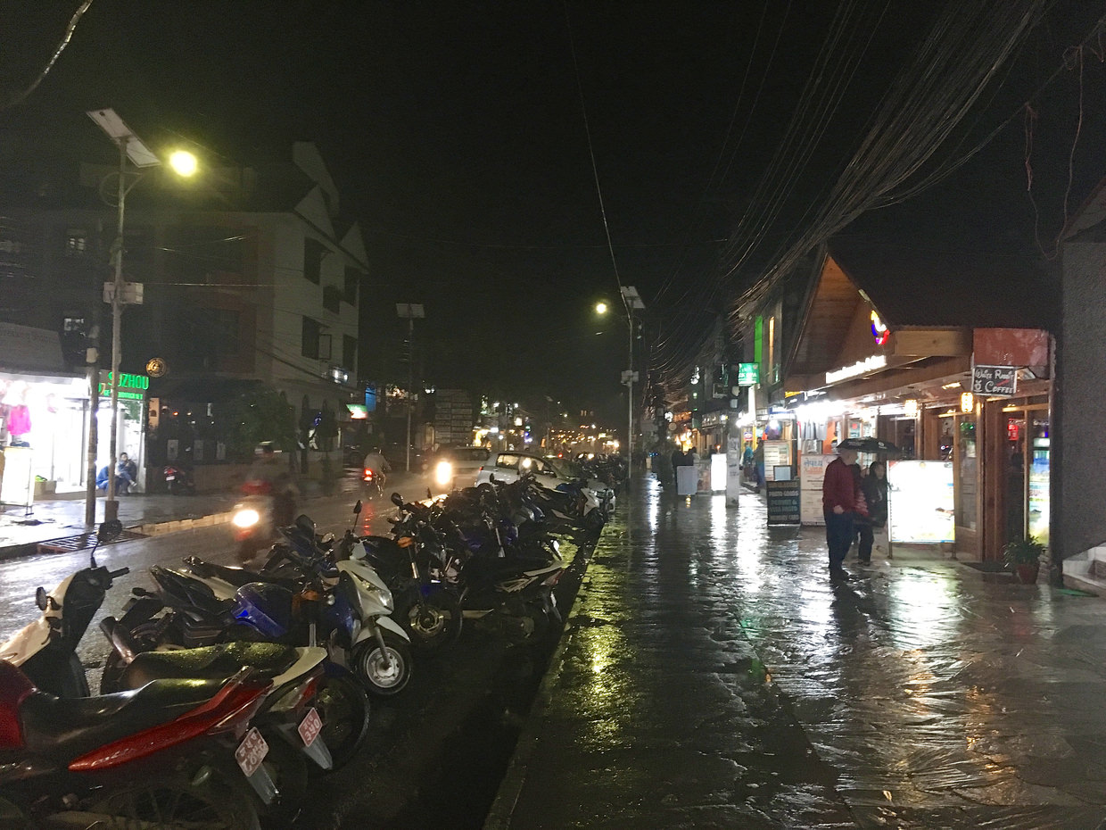 Wet streets of Pokhara