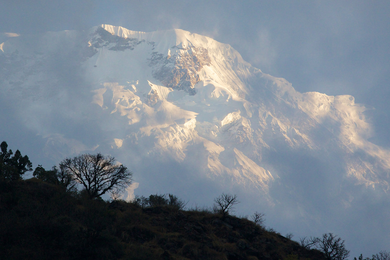 Annapurna South, photographed from bed