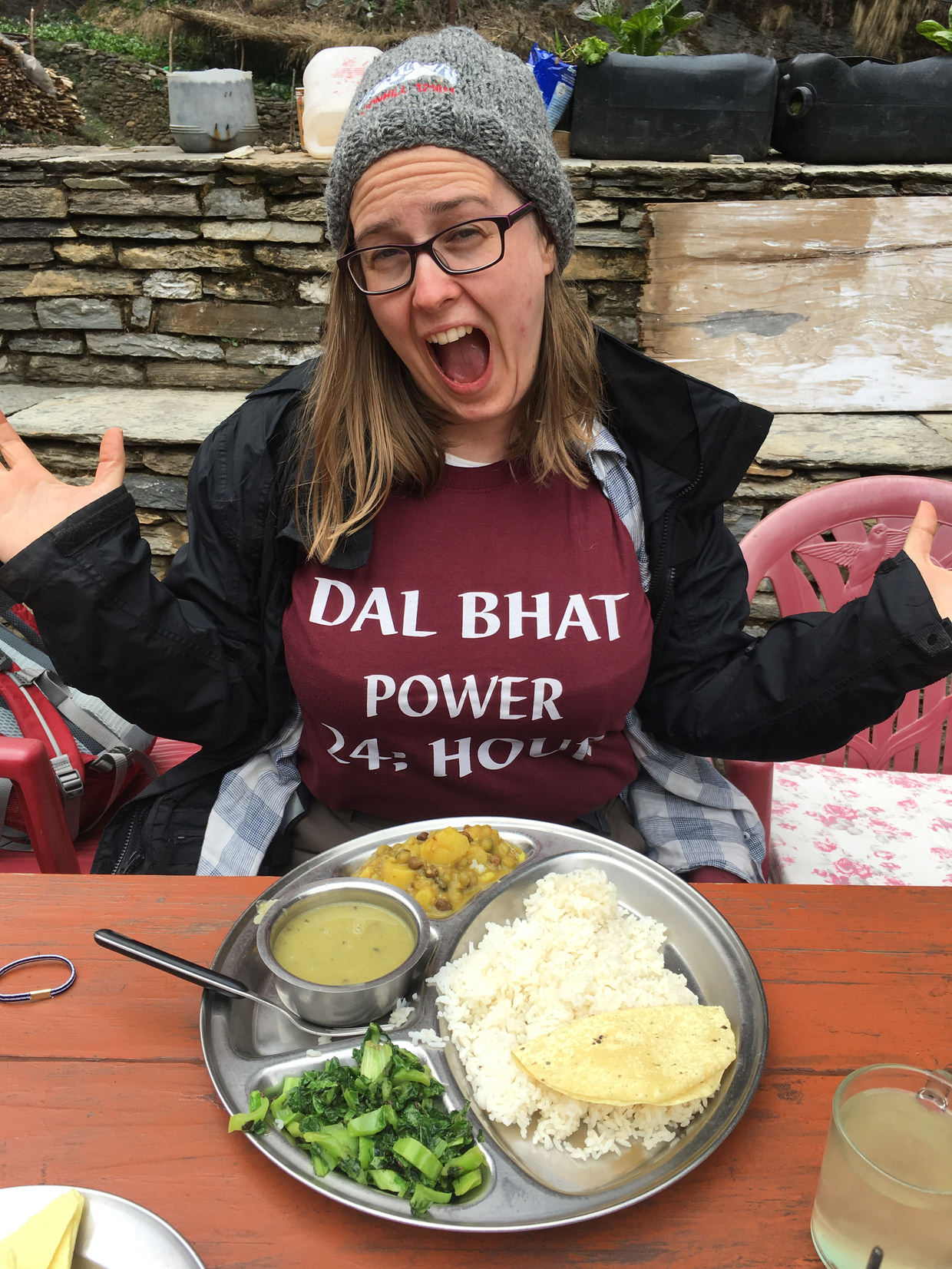 Samantha with her dal bhat