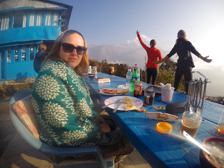 Yoga, Himalayas and breakfast