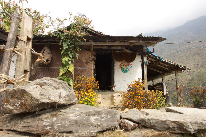A hillside Nepali house