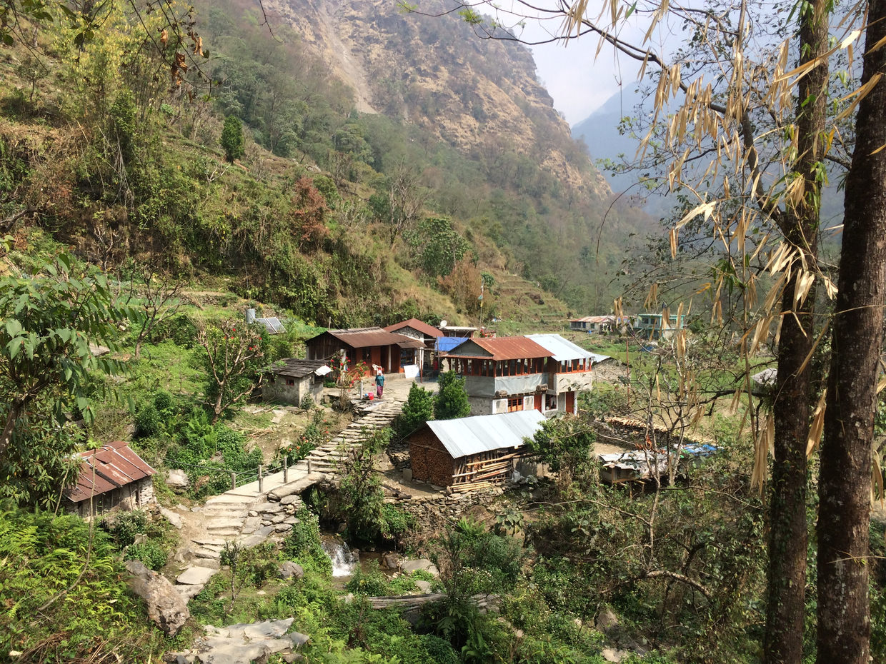 The villages East of Ghandruk are picturesque