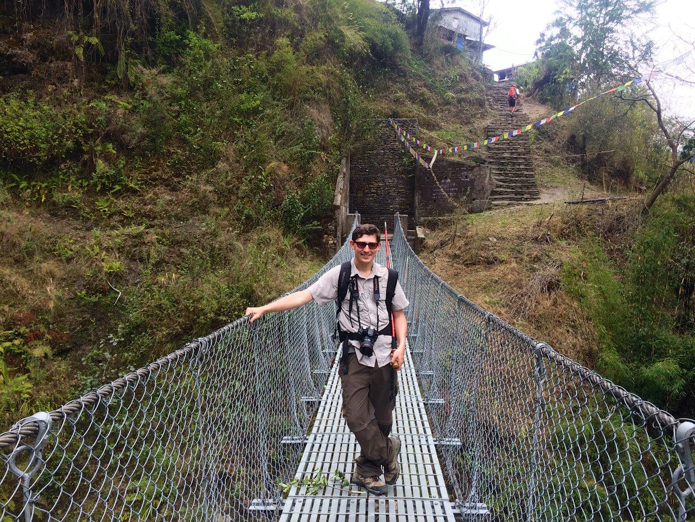 Paul on Kadoorie bridge