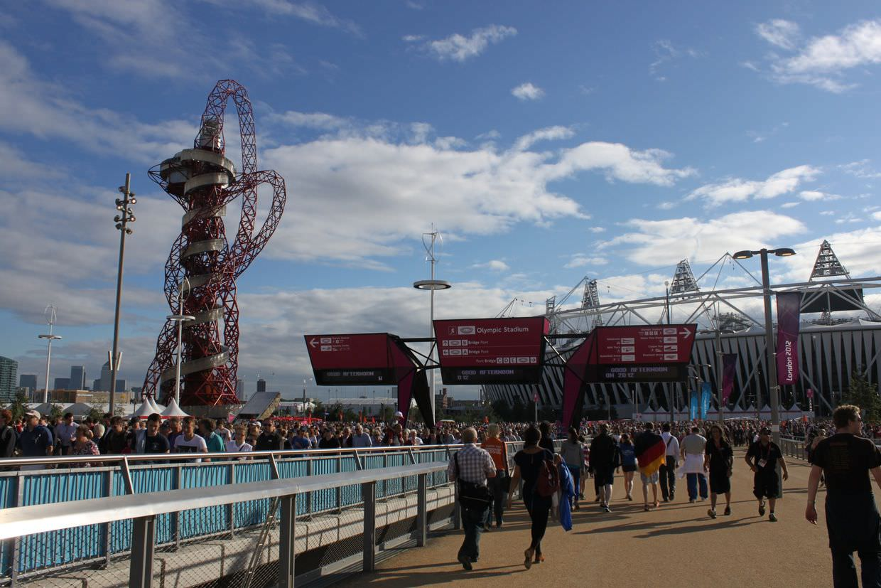 The Olympic park and stadium