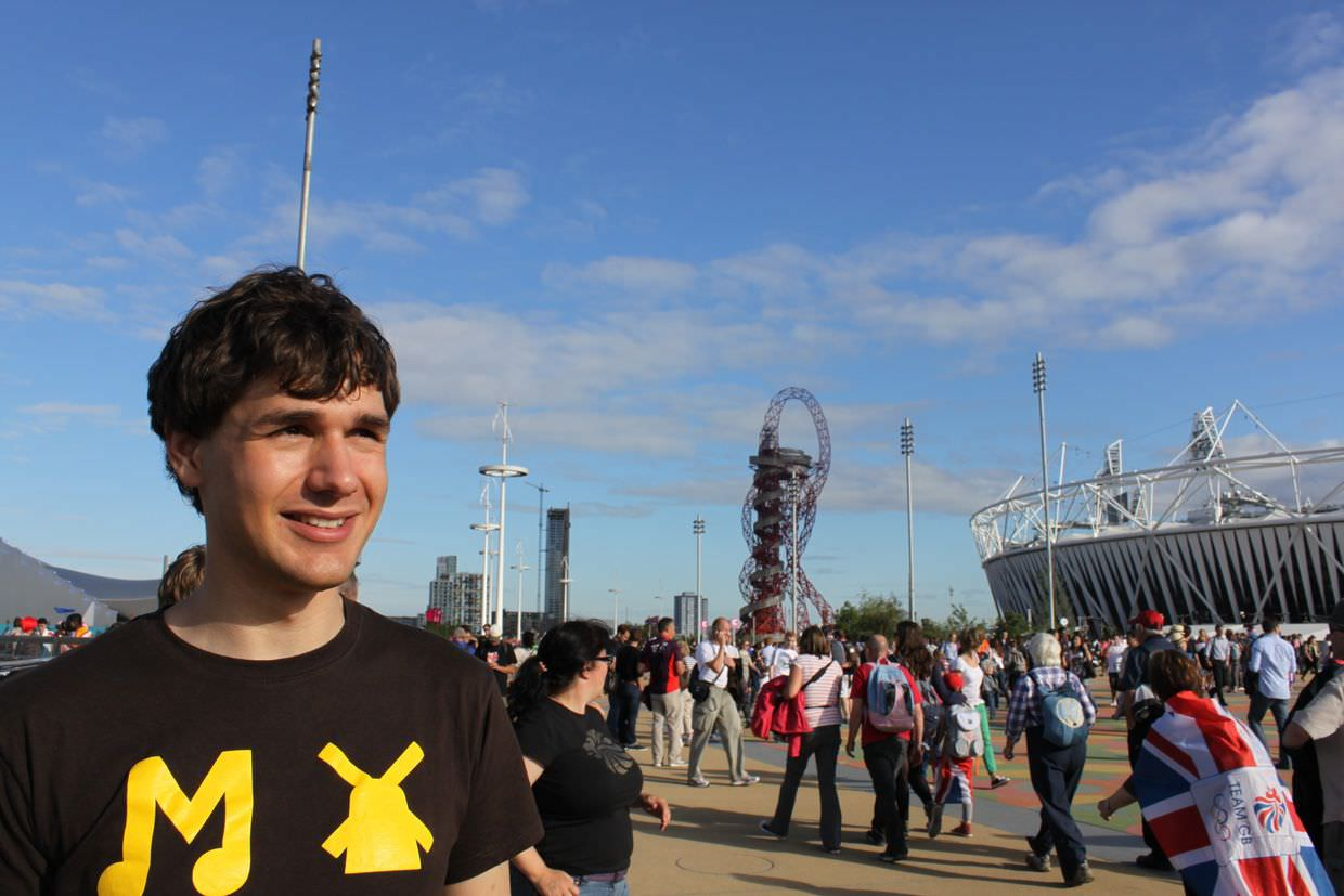 Marek in the olympic park
