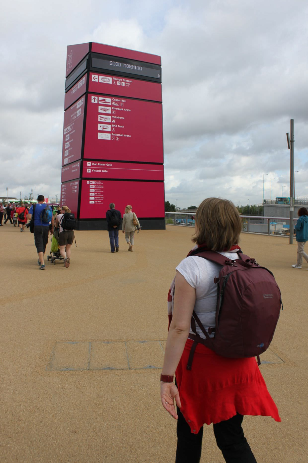 Sam in the olympic park