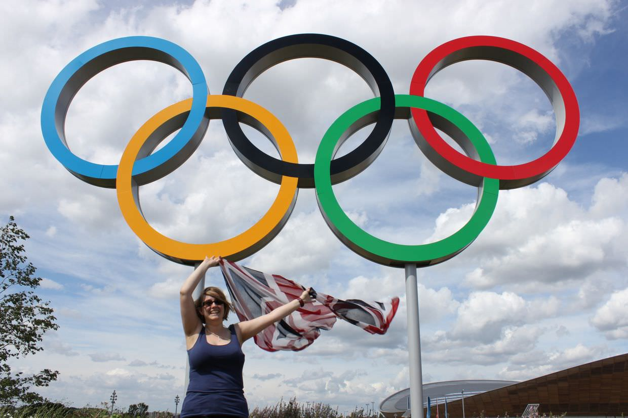 Samantha, olympic rings and union jack