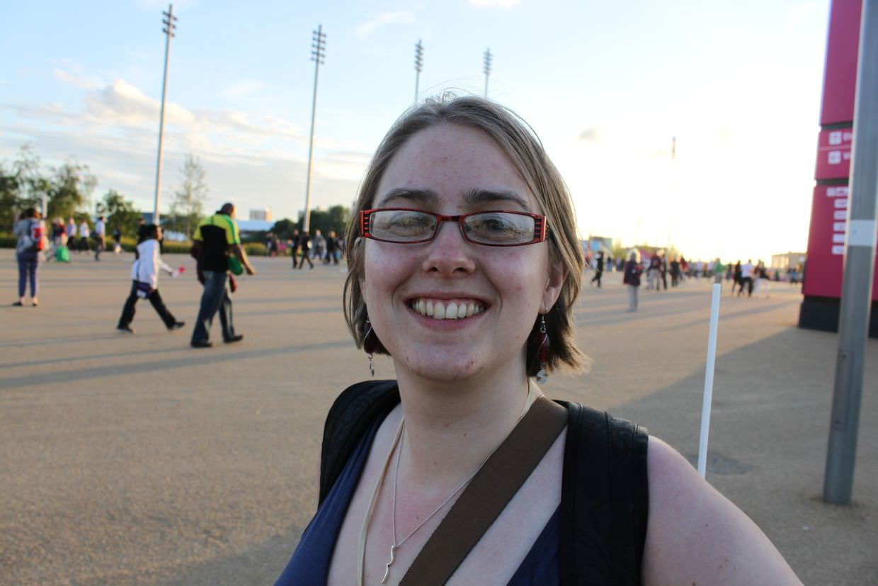 Samantha in the olympic park