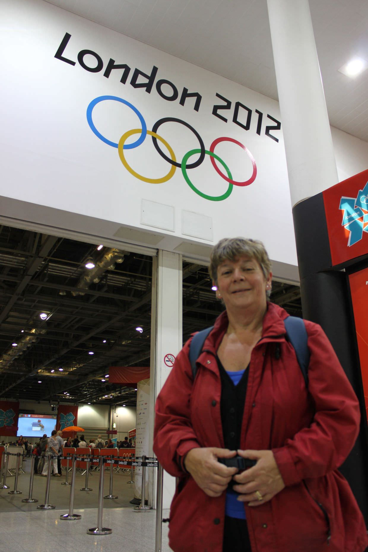Mum at the olympics, ready to see some table tennis