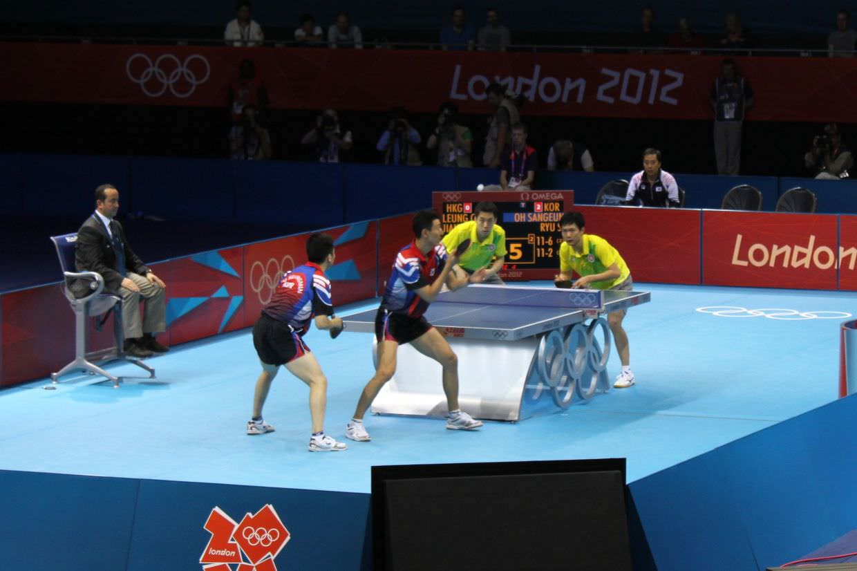Table tennis doubles